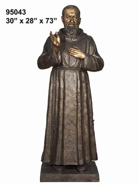 Bronze Father Pio Statue - AF 95043