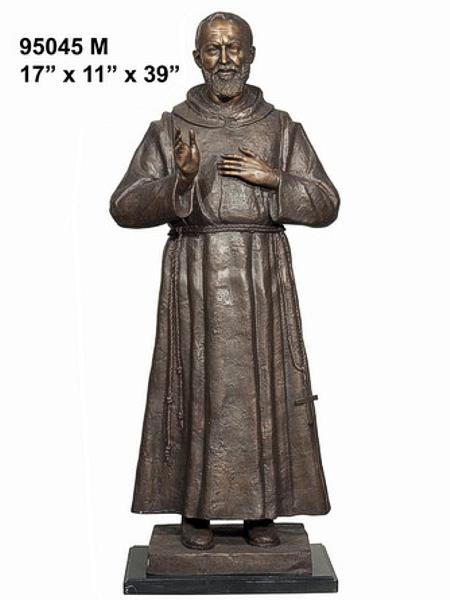 Bronze Father Pio Statue - AF 95045M