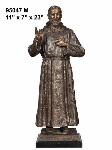 Bronze Father Pio Statue - AF 95047M