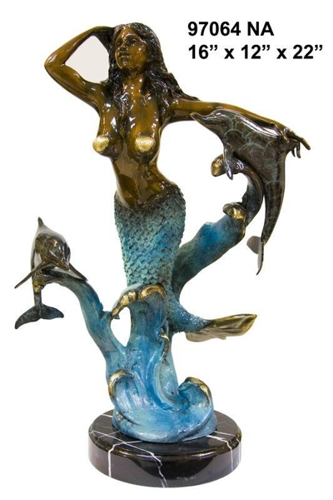 Bronze Mermaid Fountains | Bronze Mermaid Statues - AF 58586NA