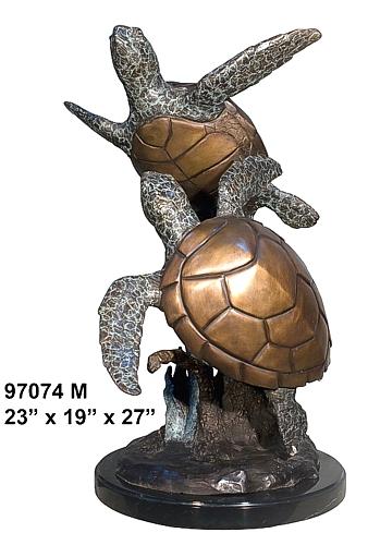 Bronze Turtle Statues - AF 97074M