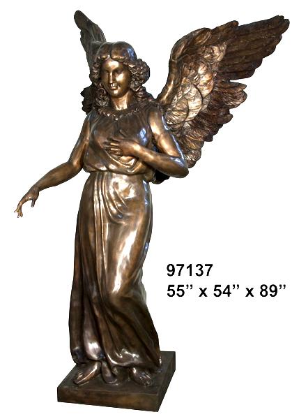 Bronze Angel Statue - AF 97137