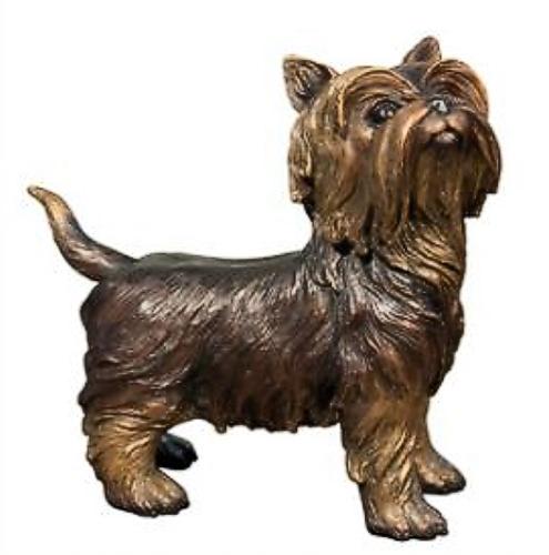 Bronze Silky Terrier Statue