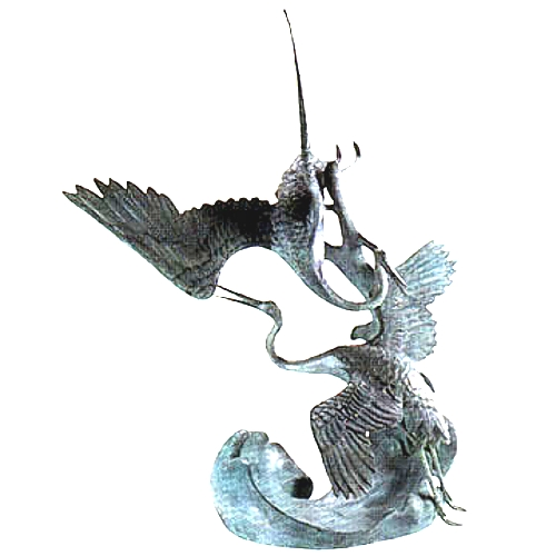 Bronze Heron Fountain/Statue - DD A-026