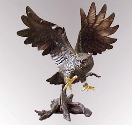 Bronze Owl Statue - PA A-1021