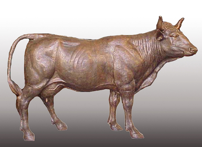 Bronze Cow Statue - PA A-1064A