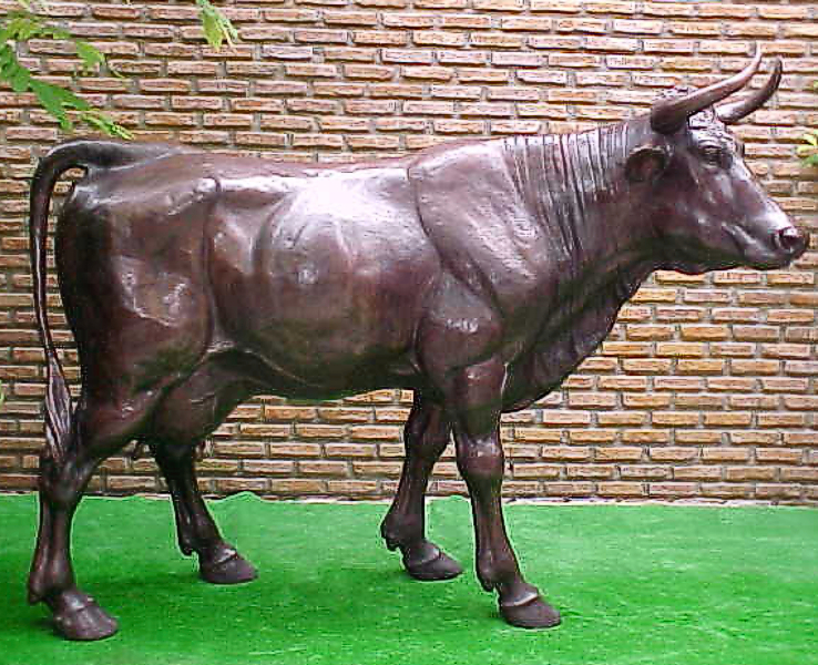 Bronze Cow Statue - PA A-1064C