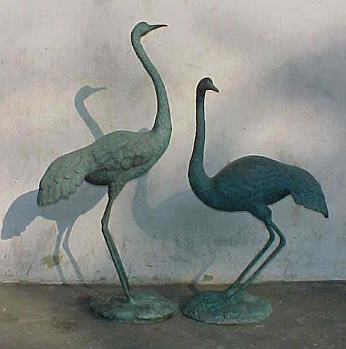 Bronze Crane Fountains - PA A-1067