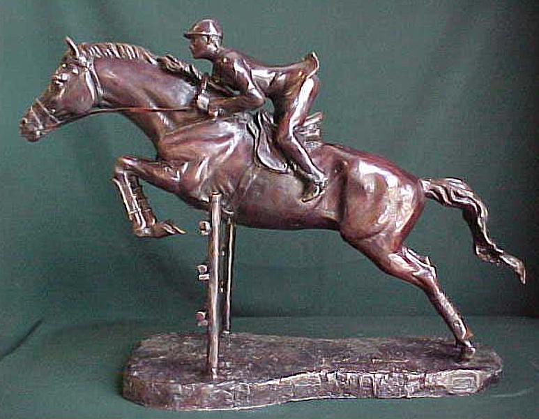 Bronze Steeplechase Horse Statues - PA A-1068L