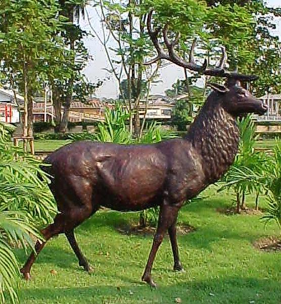 Bronze Deer Buck Statues - PA A-1071