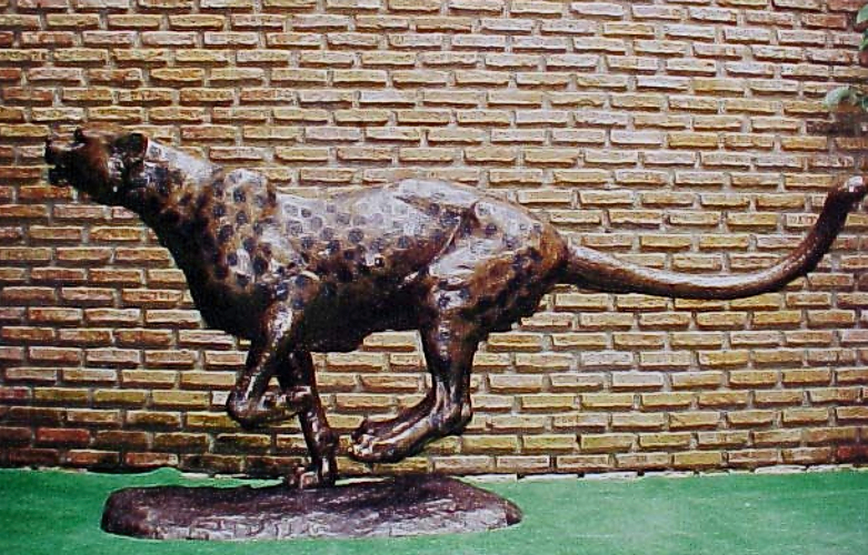 Bronze Cheetah Statues - PA A-1084
