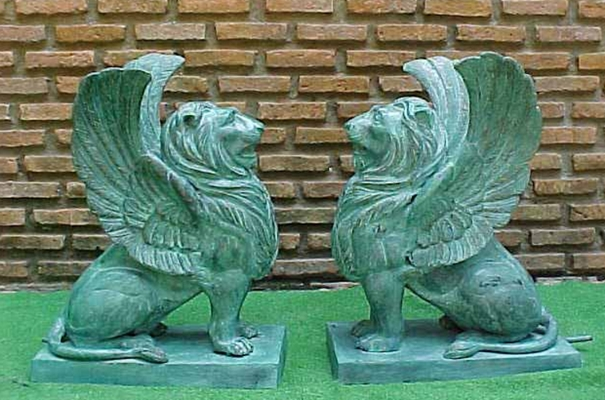 Bronze Winged Lion Fountain - PA F-1092