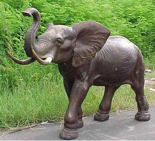Bronze Elephant Statue - PA A-1092