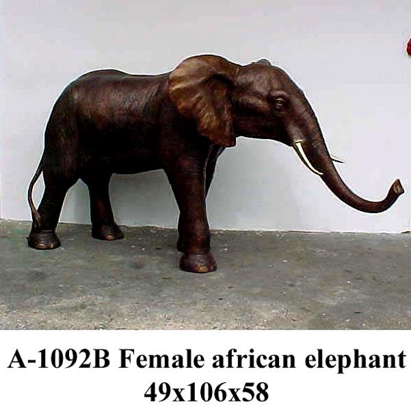Bronze Elephant Statue - PA A-1092B