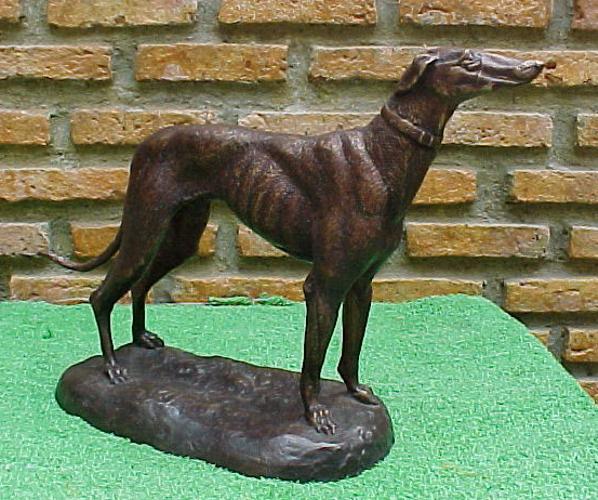 Bronze Greyhound Statue - PA A-1098A