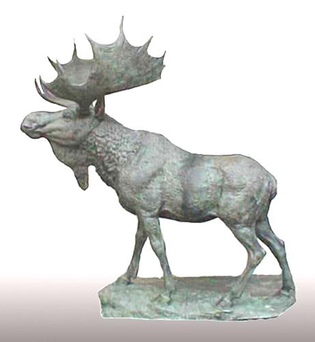 Bronze Moose Statue - PA A-1106