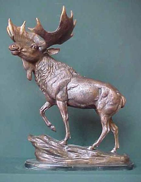 Bronze Moose Statue - PA A-1112