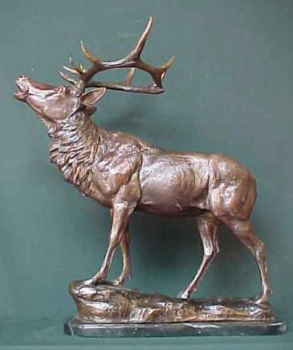 Bronze Deer Buck Statues - PA A-1114