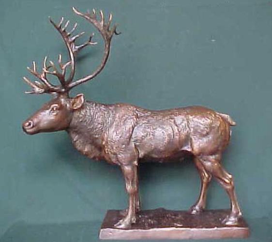 Bronze Deer Buck Statues - PA A-1120