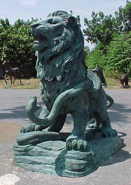 Bronze Lion Statues - PA A-1124