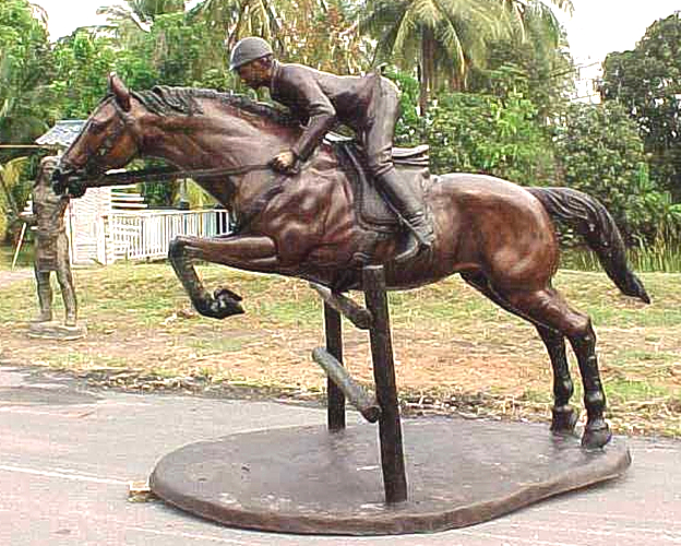 Bronze Steeplechase Horse Statues - PA A-1128