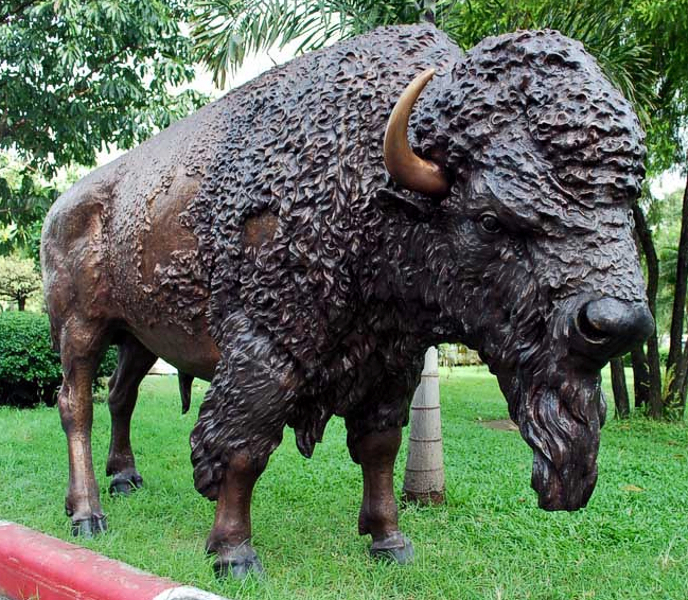 Bronze Bison Statues - PA A-1133
