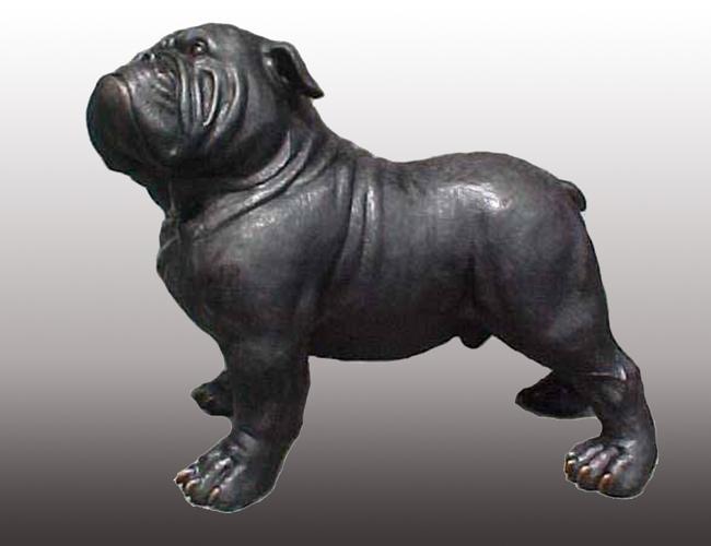 Bronze Bulldog Mascot Statue - PA A-1153