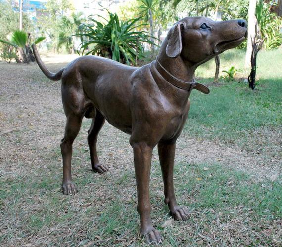 Bronze Dalmation Statue - PA A-1199