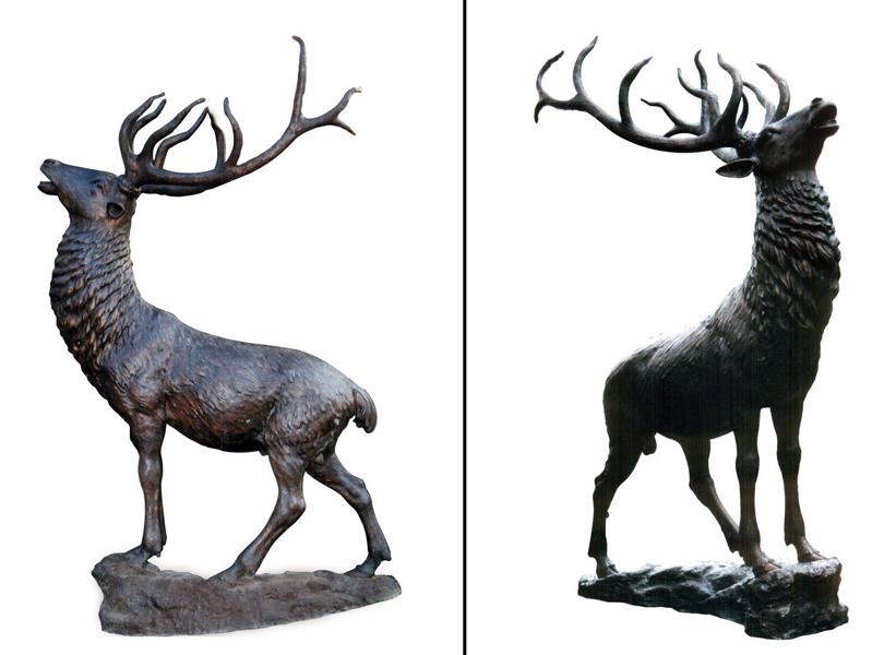 Bronze Deer Buck Statues - DD A-202
