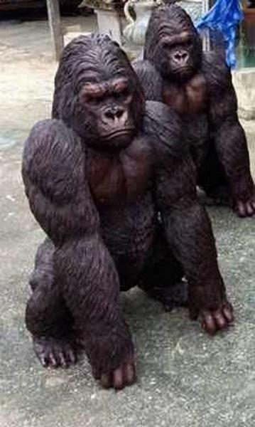 Bronze Gorilla Statue - DD A-282