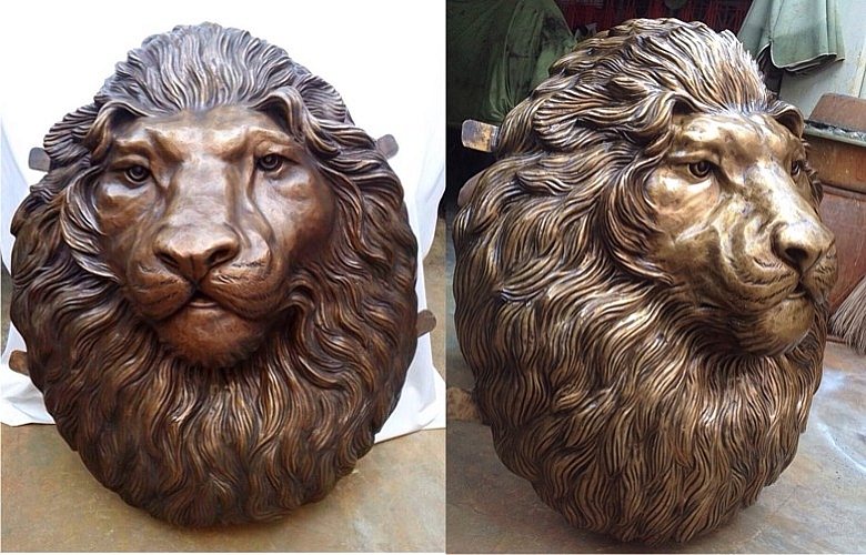 Bronze Lion Wall Fountain - DD A-290