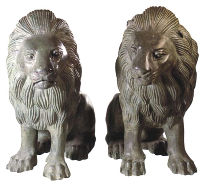 Bronze Lion Statues - DD A-017