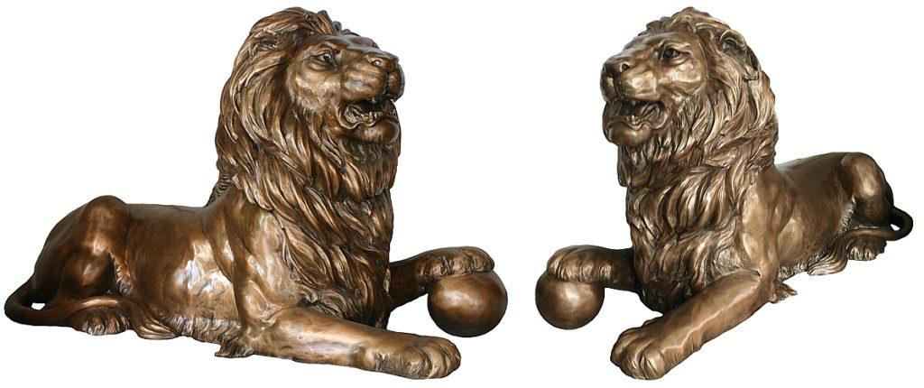 Bronze Lion Statues - DD A-301