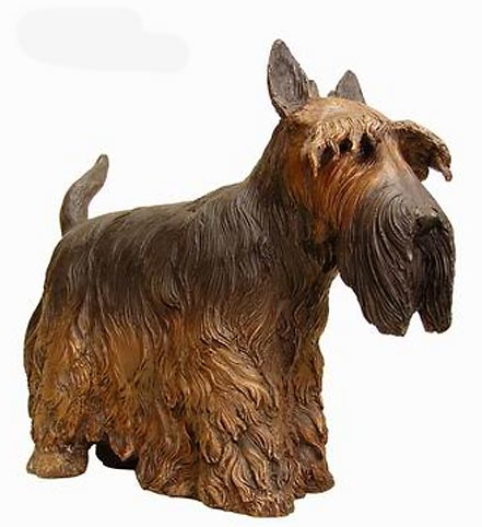 Bronze Scottish Terrier Statue - AF 50416