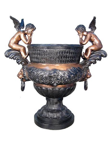 Bronze Cupid Urns - AF 74360