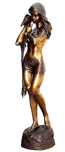 Bronze Sexy Lady Statue - KT P-812