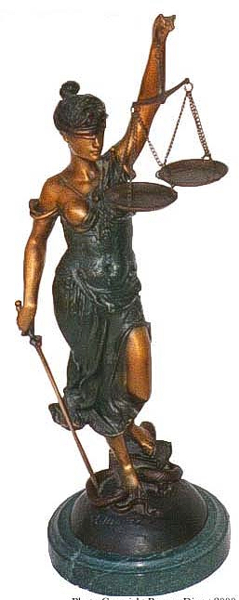 Bronze Blind Justice Statue - ASB 389