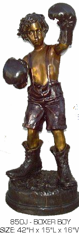 Bronze Boxer Boy Statue - ASB 850SP