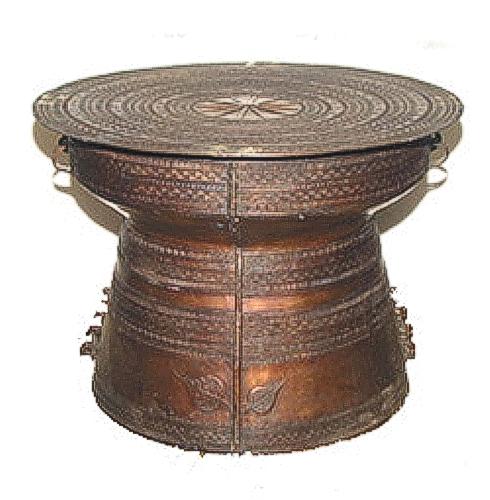 Bronze Rain Drum Table - ASI 213-1L