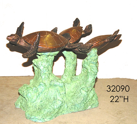 Bronze Turtle Table - AF 32090