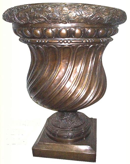 Bronze Swirl Planter Urn - ASI BA-1471X