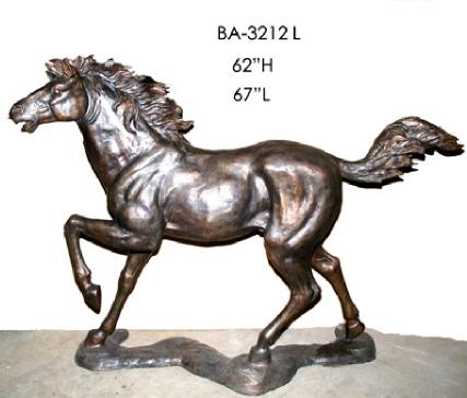 Bronze Horse Prancing Statue - ASI BA-3212L