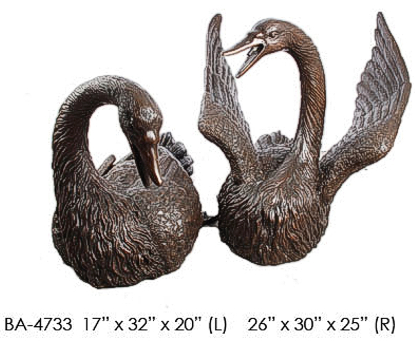 Bronze Swan Fountain/Statue - ASI BA-4733