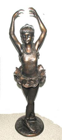 Bronze Little Miss Ballerina Statues - ASI BA-4938
