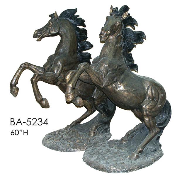 Bronze Horse Statues (R&L) - ASI BA-5234