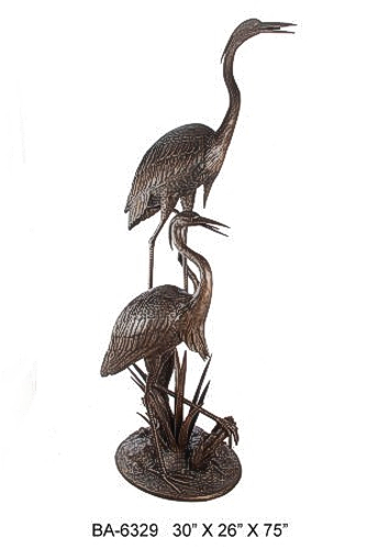 Bronze Heron Fountain/Statue - ASI BA-6329