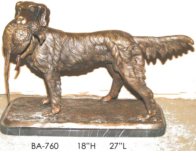 Bronze Pointer Dog Statue - ASI BA-760
