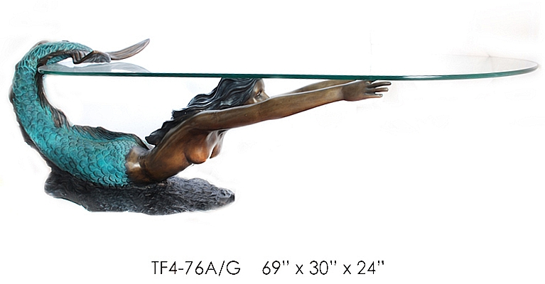 Bronze Mermaid Table - ASI TF4-76A