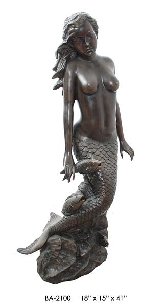 Bronze Mermaid Statue - ASI BA-2100