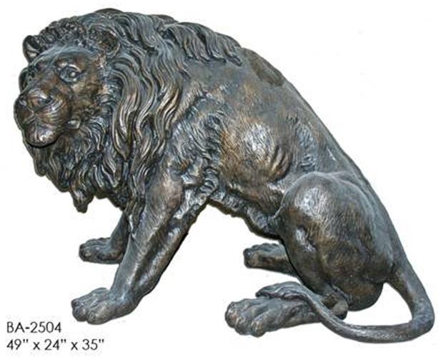 Bronze Lion Statues - ASI BA-2504